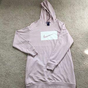 Pastel pink oversized Nike Hoodie